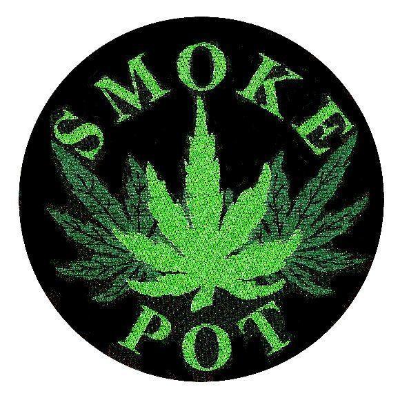 Smoke Pot Woven Patch.