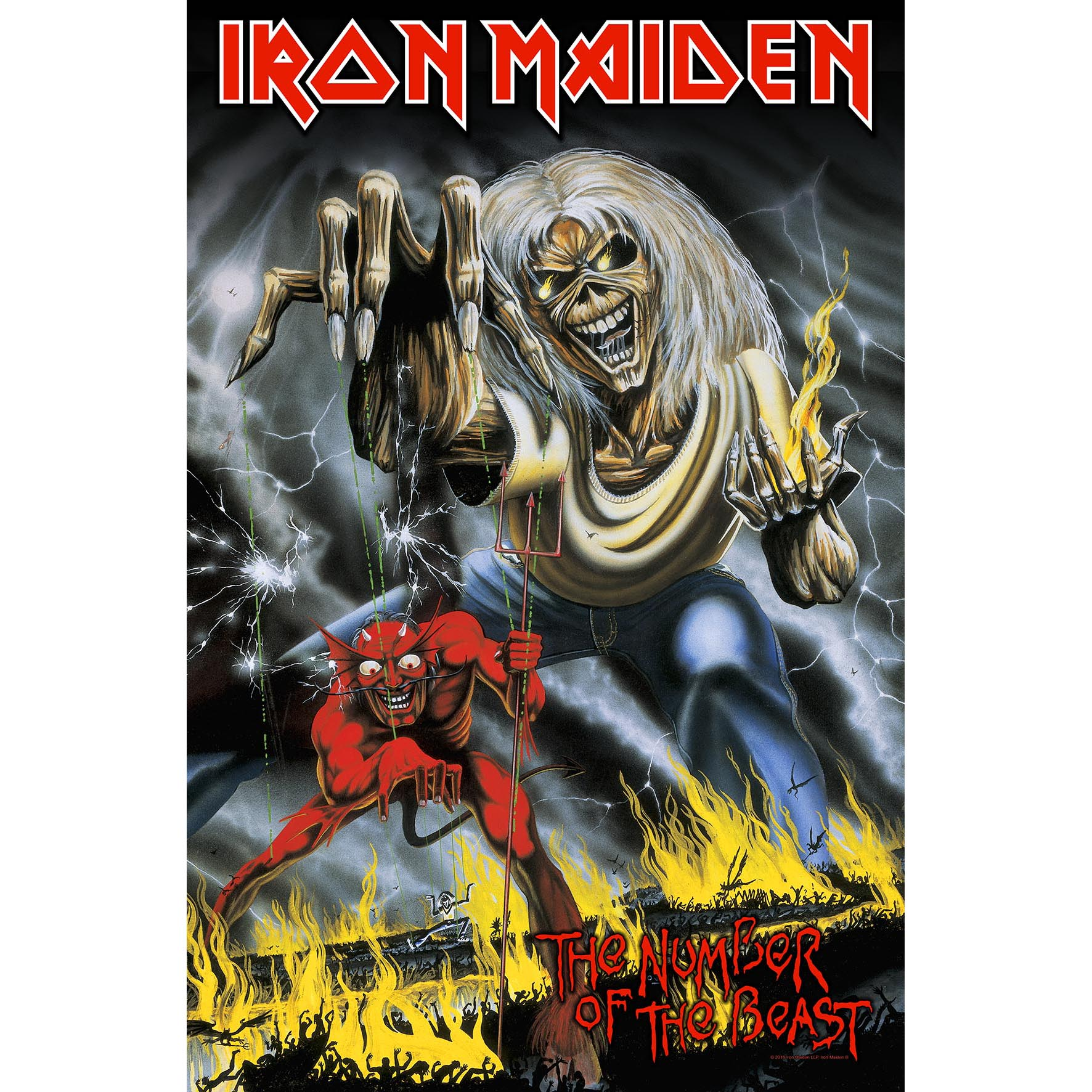 Iron Maiden The Number Of The Beast Textile Poster Hmol New