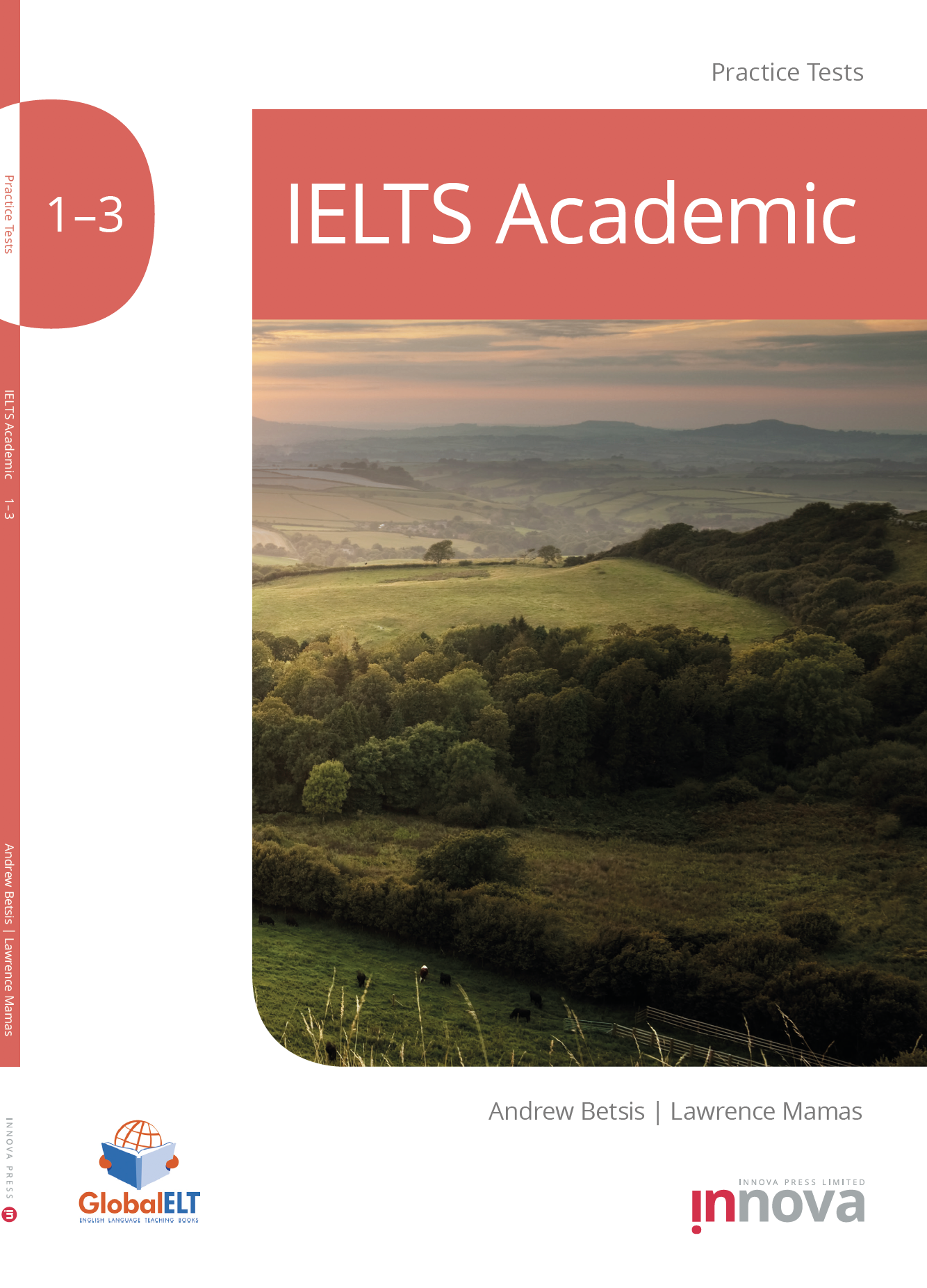 Innova Press IELTS Academic Practice Tests 1-3 cover, countryside