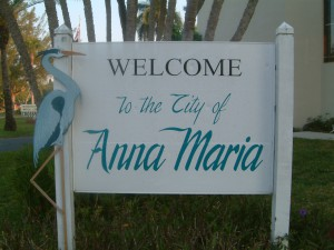 Anna Maria City welcome Sign
