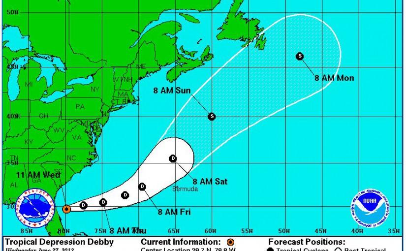 Tropical Storm Debby for Anna Maria Island – Hurricane Season 2012