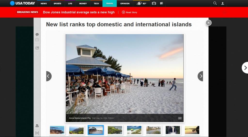 USA Today article Anna Maria Island