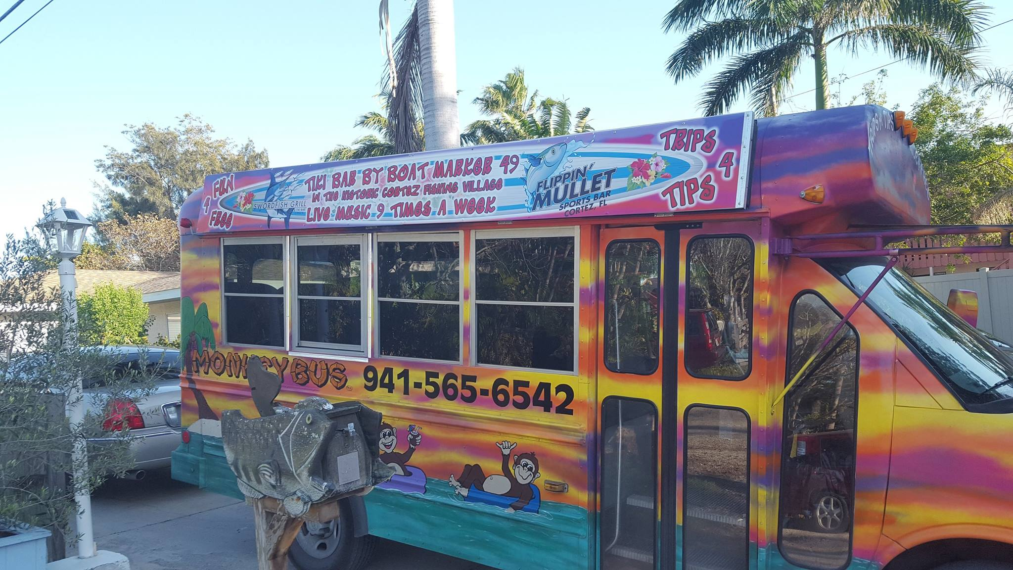 The Monkey Bus offers Free Transportation on Anna Maria Island and beyond!