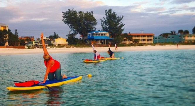 Anna Maria Island Paddleboard Lessons? Try Salty Budda for lessons and  SUP Yoga.