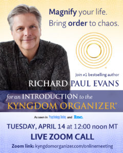 Kyngdom Organizer introduction with Richard Paul Evans @ Online Zoom Meeting