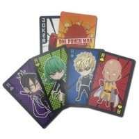 One Punch Man Characters Playing Cards