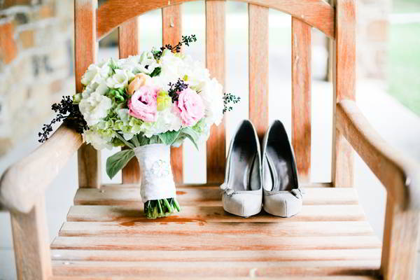 Wedding Shoes and Wedding Flowers