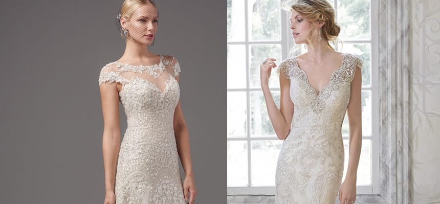 Embellished lace wedding dresses from Maggie Sottero and Sottero and Midgley