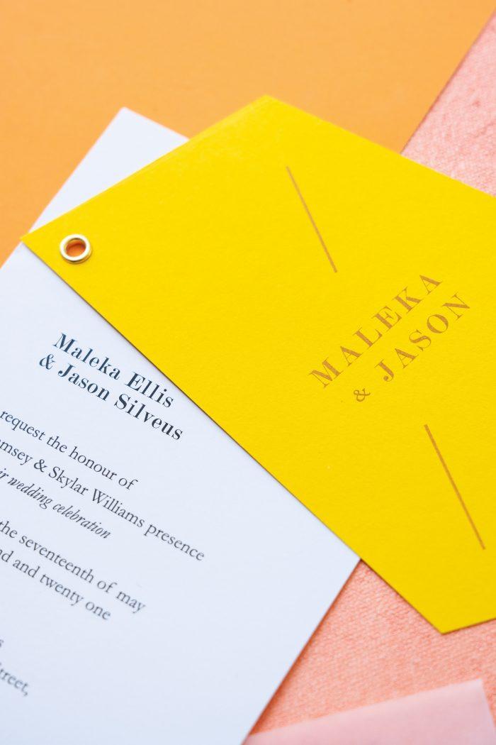 Citrus Themed Wedding Invitations