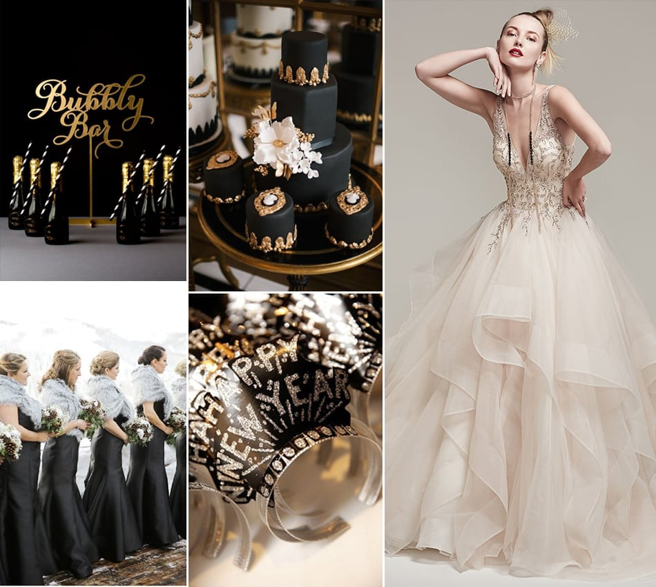 new year s eve black and gold wedding inspiration love maggie eve black and gold wedding inspiration