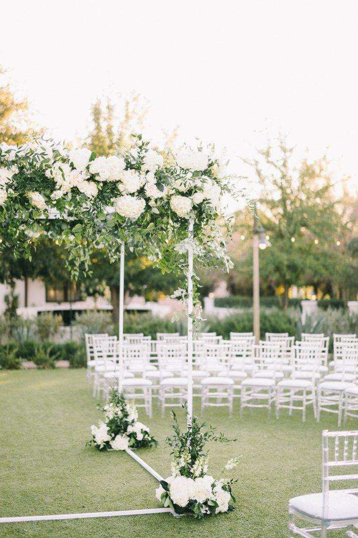 White Florals at an Outdoor Modern Wedding