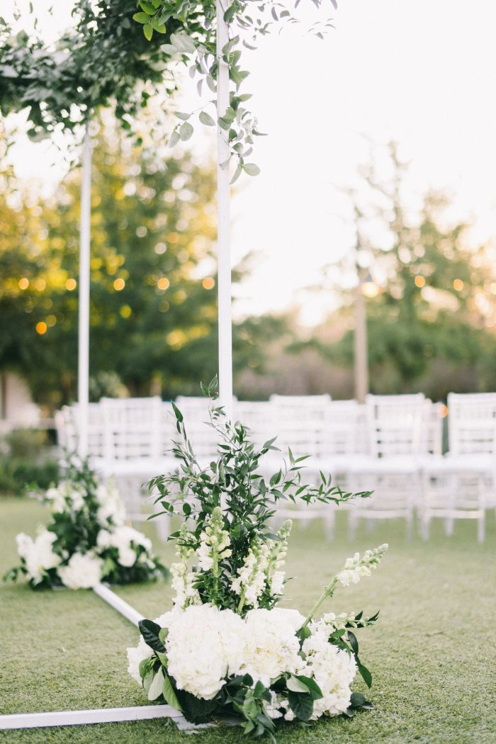 White Florals at an Outdoor Modern Wedding