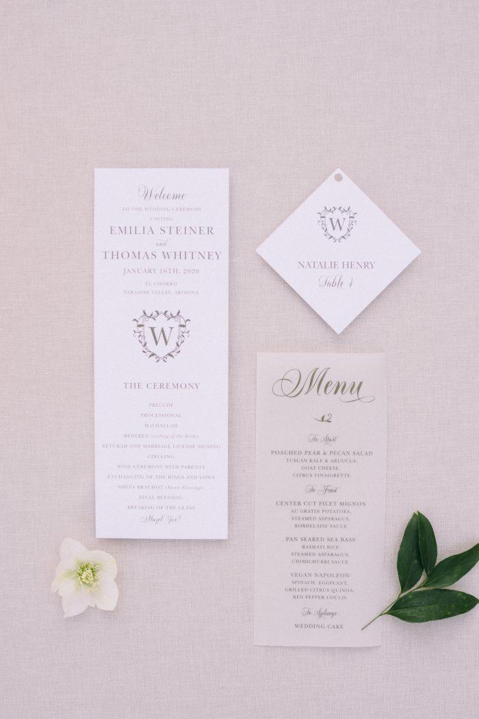White and Transparent Wedding Invites