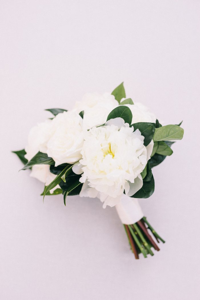 Green and White Floral Boutonniere