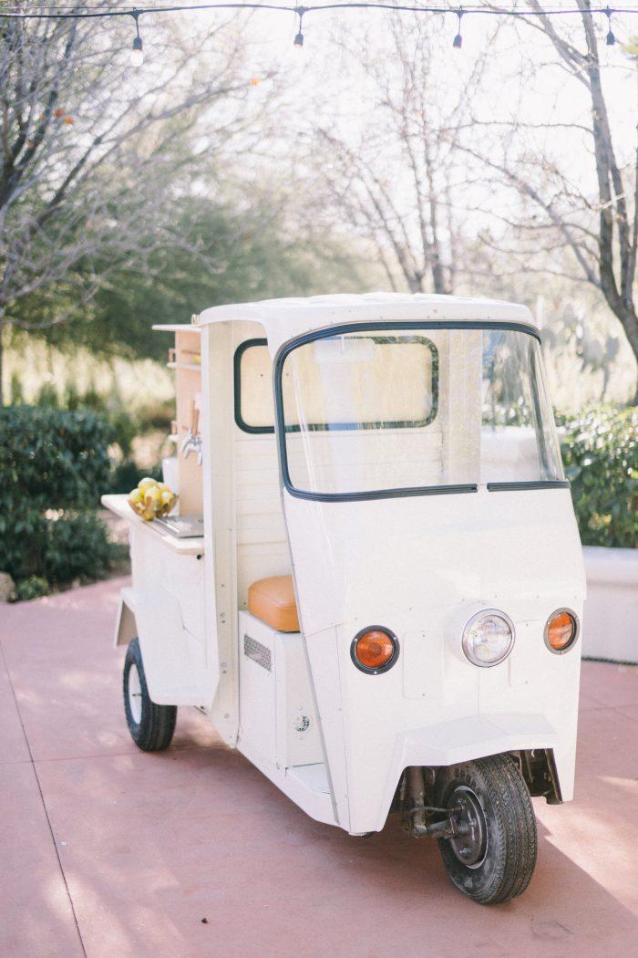Food Truck at Outdoor Wedding Reception