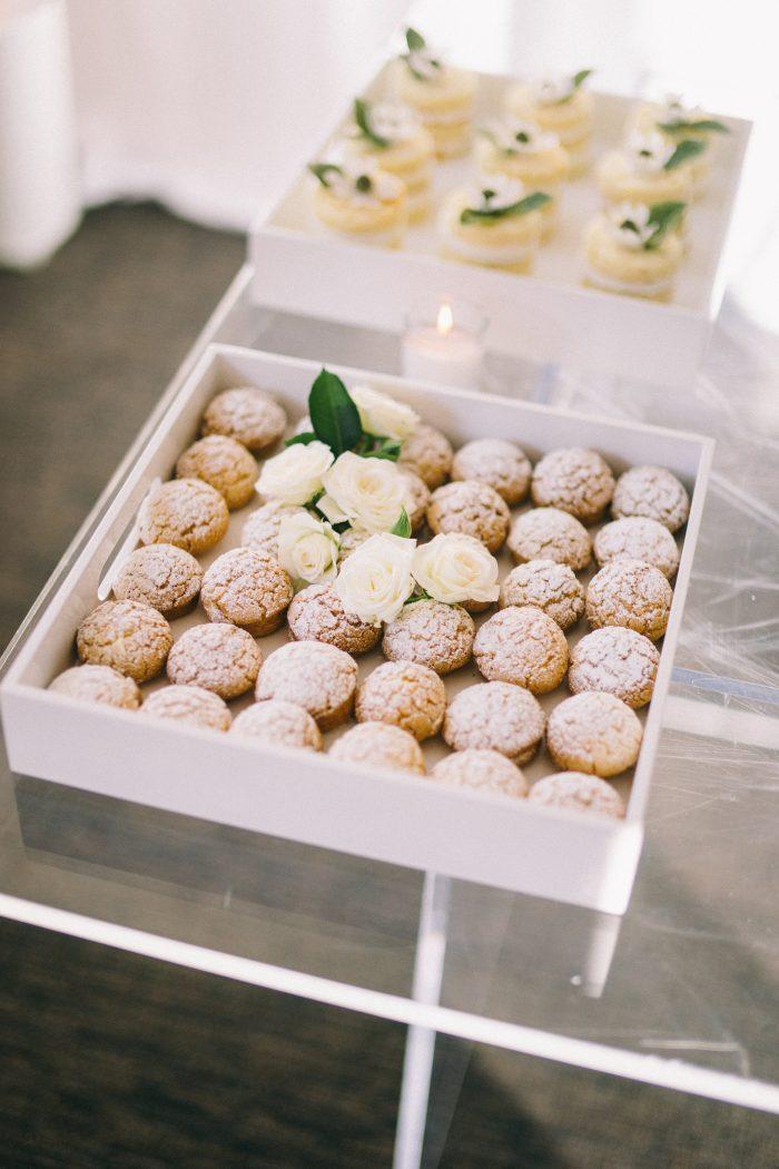Fancy Desserts at Modern Wedding Reception