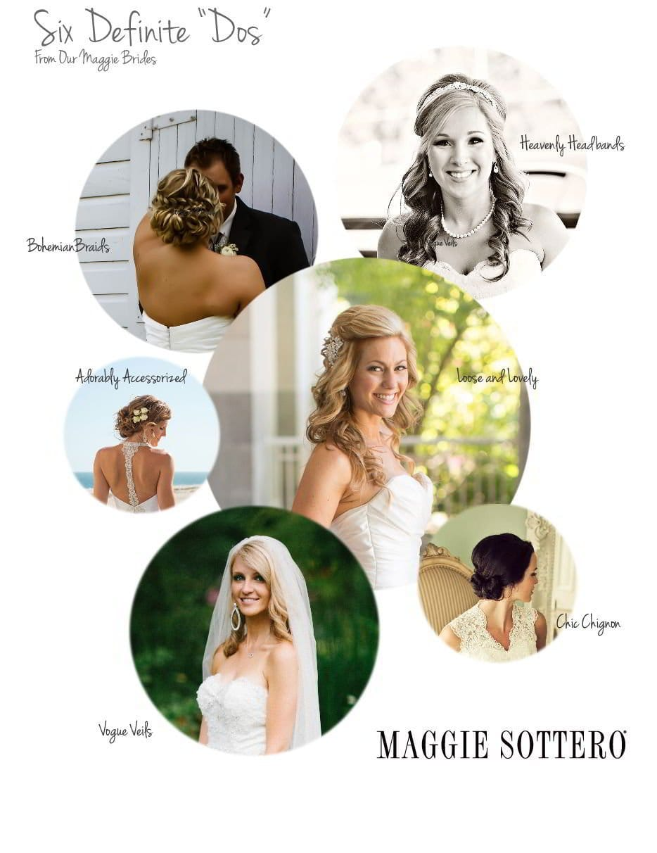 Wedding Hair Inspiration from our Maggie Brides