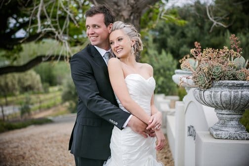 Midgley Bride Riana Van Rooyen in our Sloan dress!