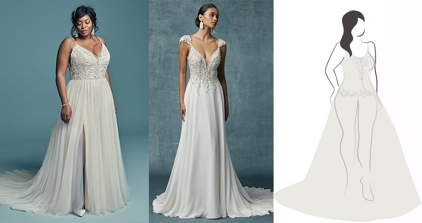 Wedding dresses for pear shaped brides - Maggie Sottero