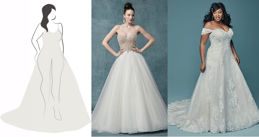 Wedding dresses for voluptuous figure - Maggie Sottero