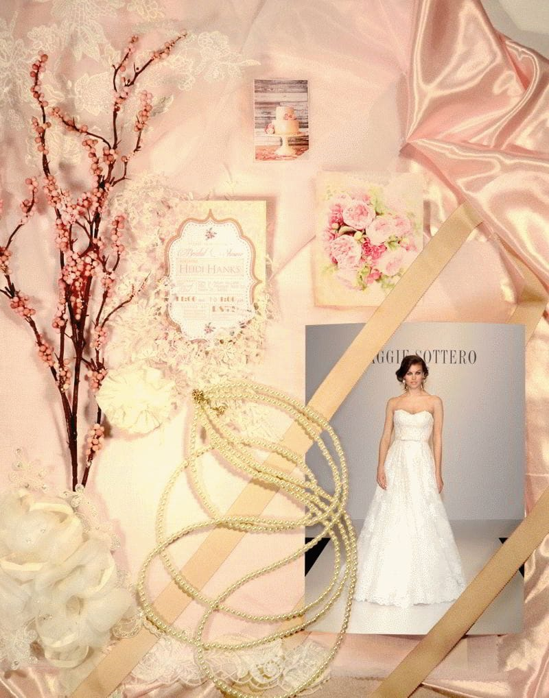 A wedding inspiration board for Timeless Romantic brides.