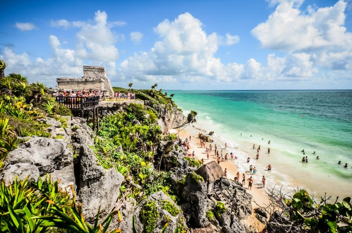 Affordable Honeymoon at Ruins on Beach at Tulum, Mexico