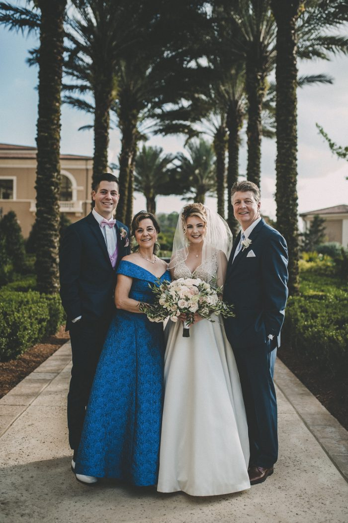Wedding Party Featuring Navy Blue Father of the Bride Attire