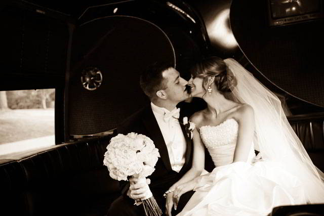 Real Maggie bride Lauren Stokely wearing our Brielle gown.