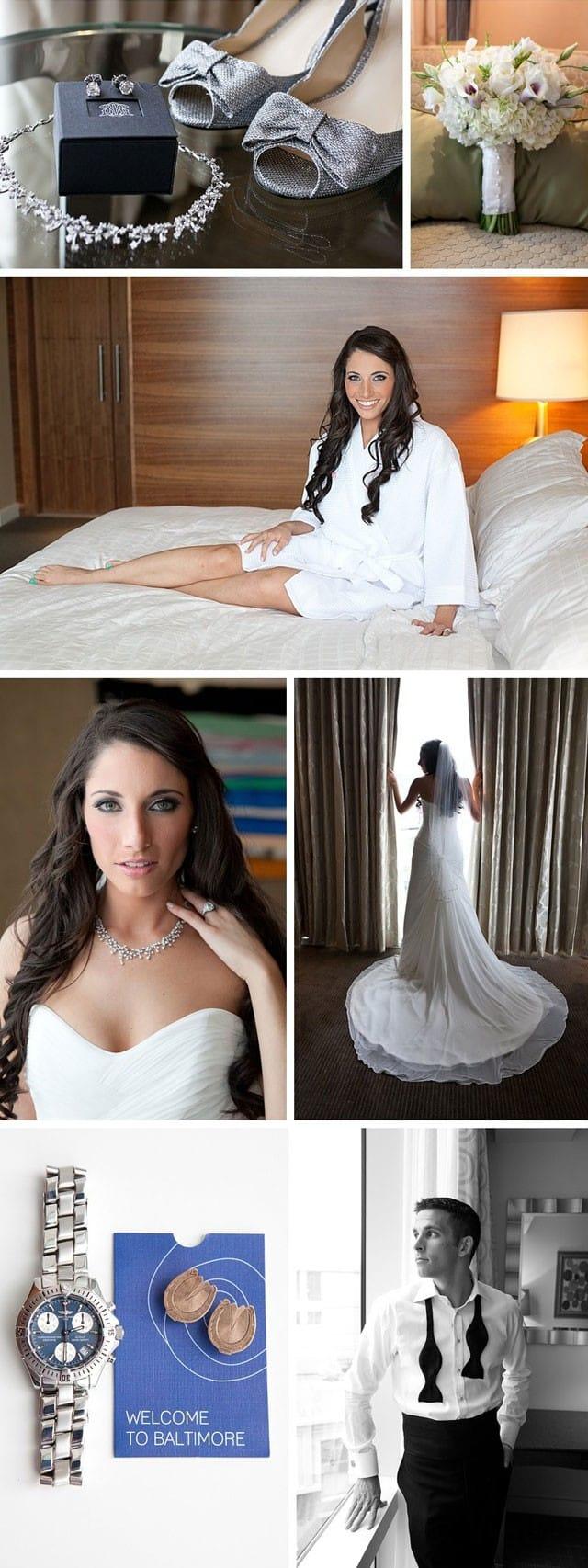posh city wedding - Maggie Bride Emily wore Clarice