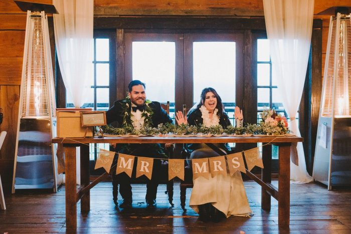 Real Bride and Groom Signing Marriage Certificate