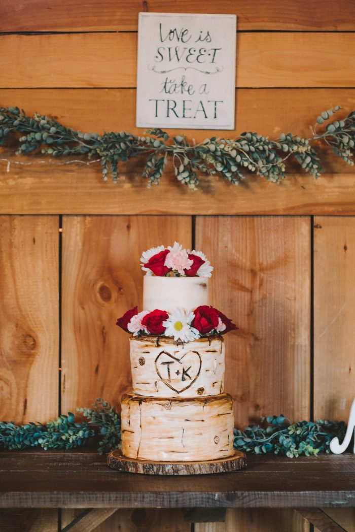 Rustic Wedding Cake White