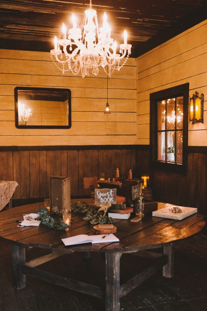 Rustic Wedding Details and Guest Book