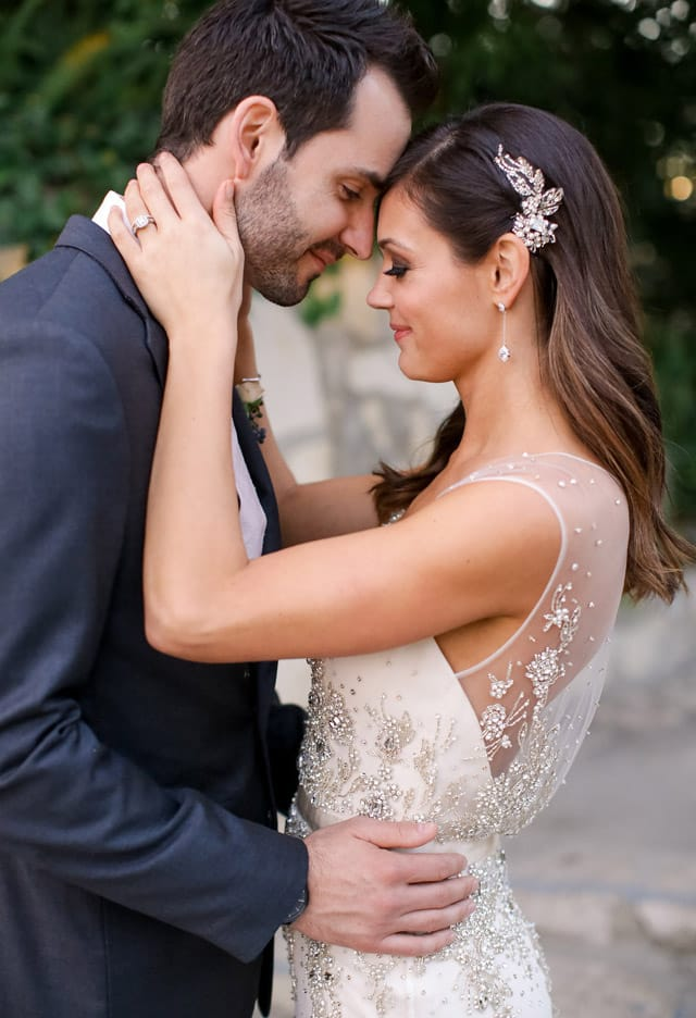 Desiree Hartsock wearing Maggie Sottero on her wedding day