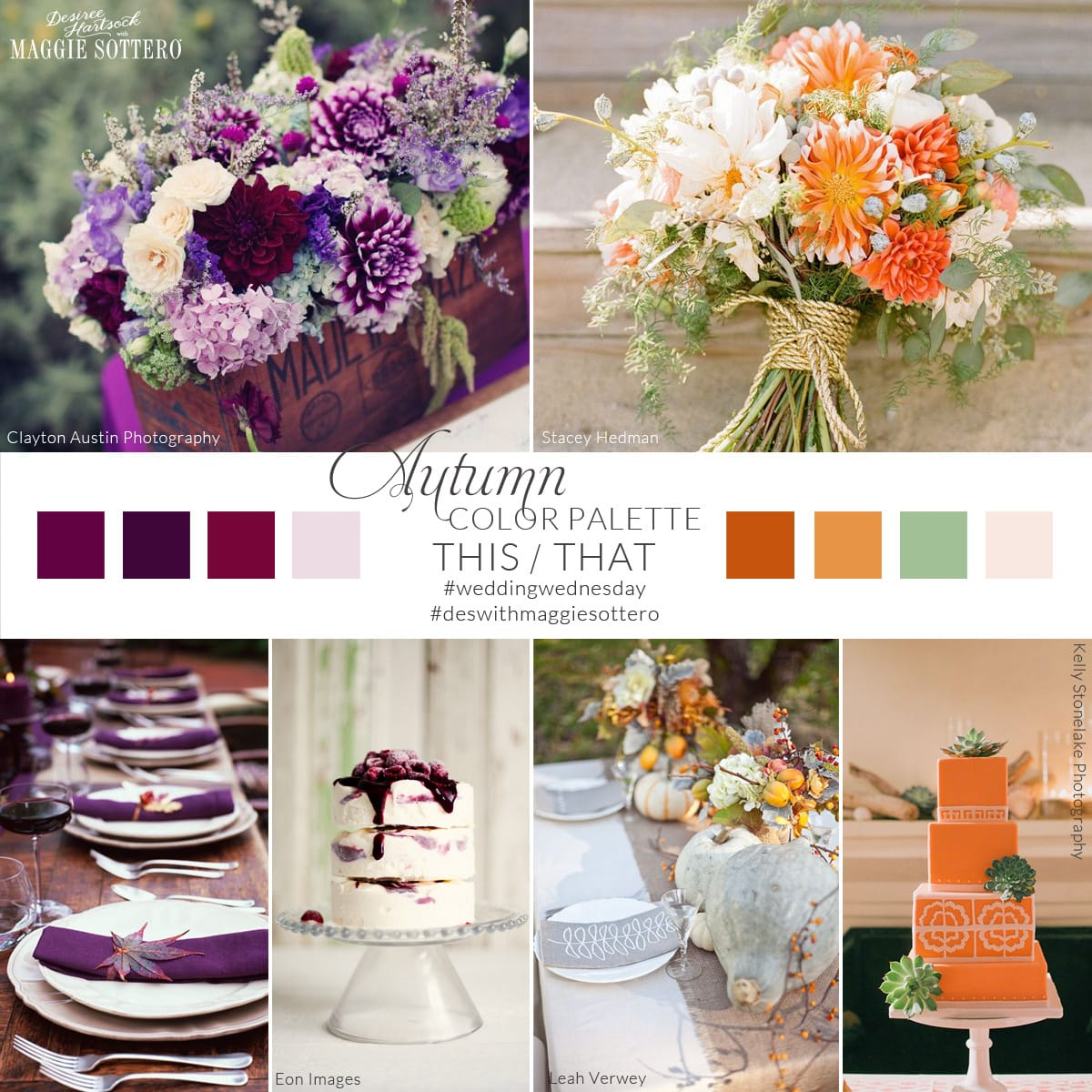 Fall wedding colors... Pick your favorite!