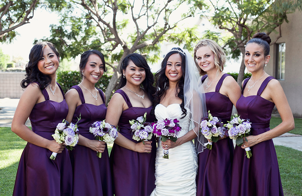 Sottero and Midgley Bride real wedding: shades of purple wedding
