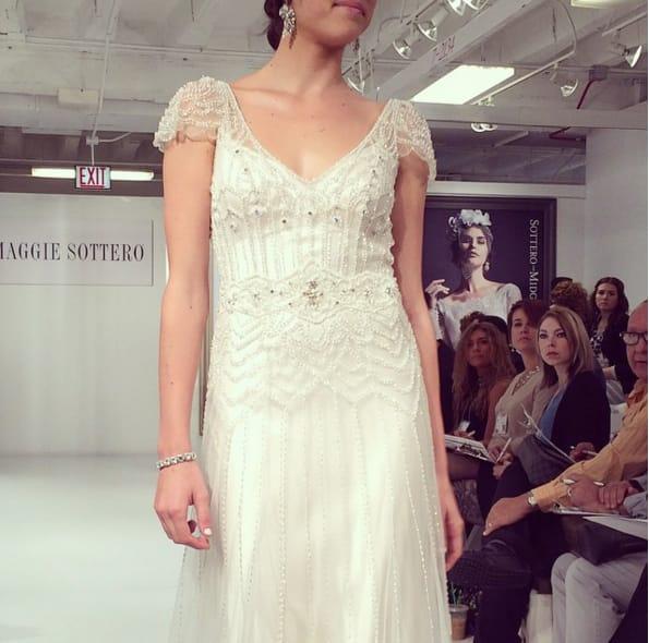 Maggie Sottero vintage-inspired wedding dress Ettia