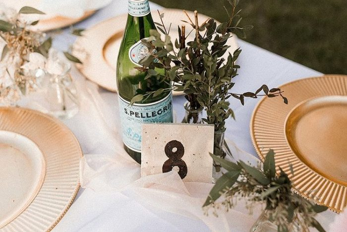 DIY Details and Decor at Intimate Lakeside Wedding