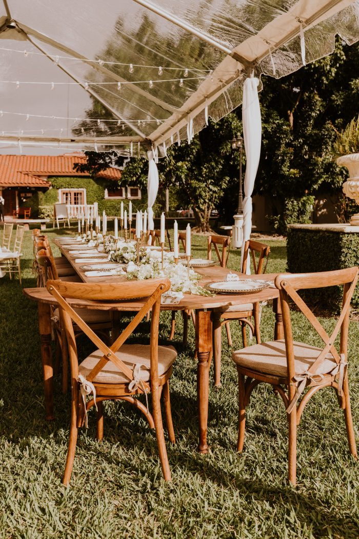 Rustic Boho Table Set Up for Outdoor Wedding