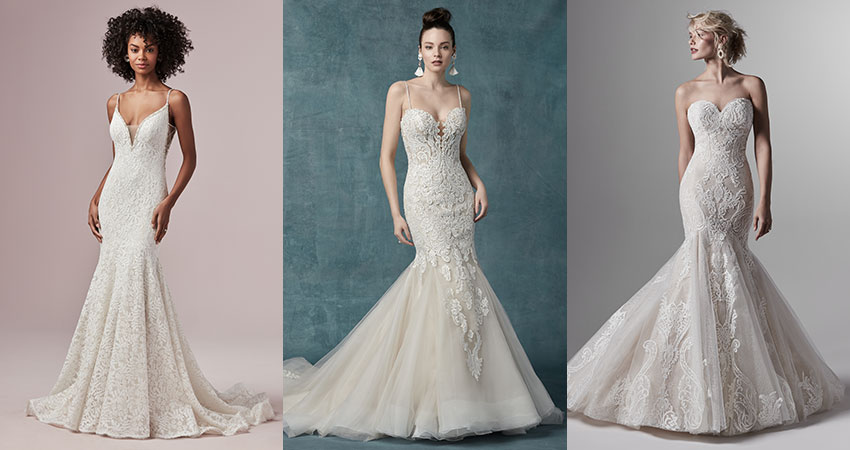 Collection of Lace Mermaid Gowns by Maggie Sottero Designs