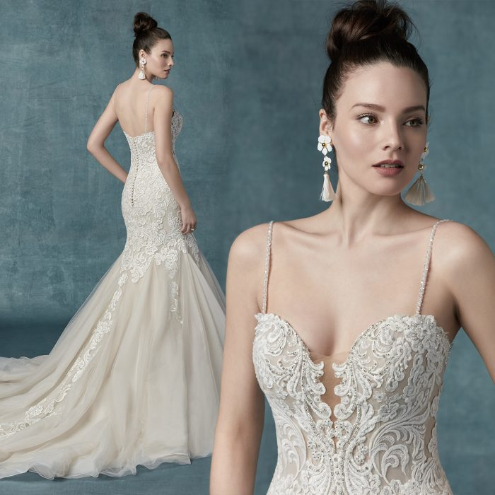 Maggie Sottero Alistaire Lace Mermaid Wedding Dress