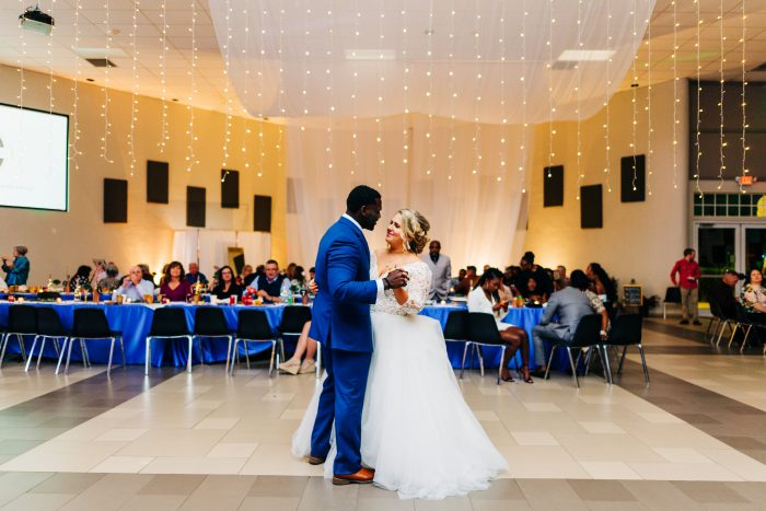 Groom Dancing with Real Bride During First Dance at Real Wedding in Florida