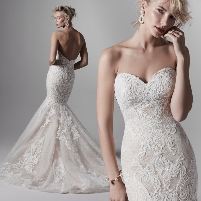 Sottero and Midgley Kane Lace Mermaid Wedding Dress