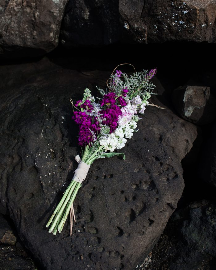 Wild Flower Bouquet on Rocky Beach
