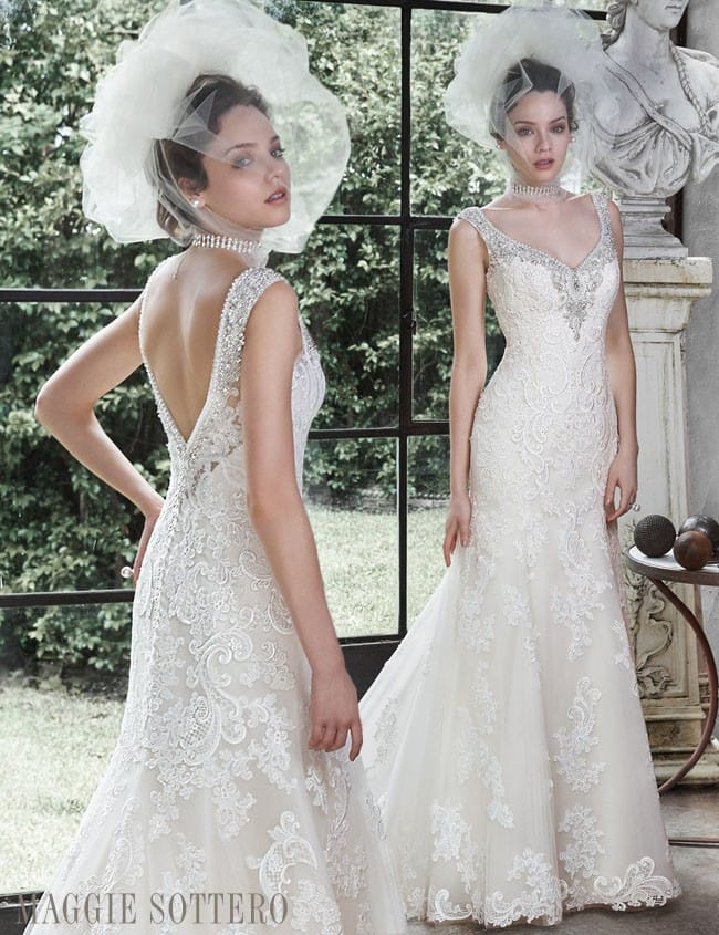 Sparkling lace wedding dress, Darija by Maggie Sottero
