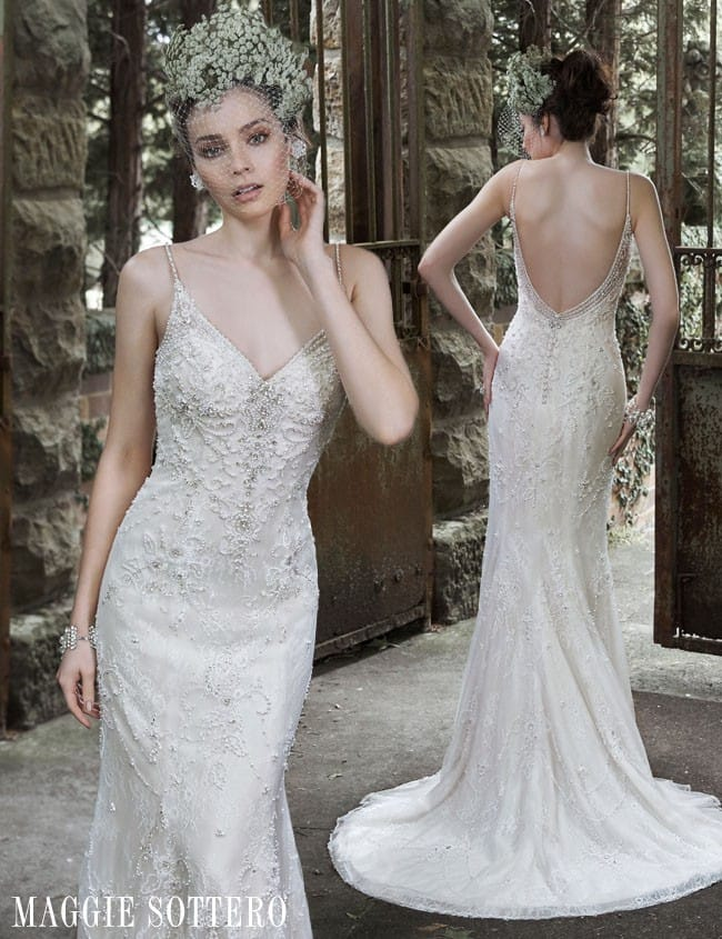 Love these slinky sheath wedding dresses? See more on Sottero and Midgley now!
