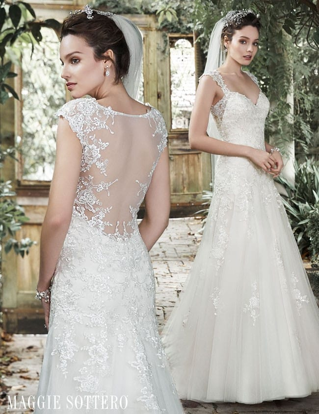 Almudena lace A-line wedding dress by Maggie Sottero