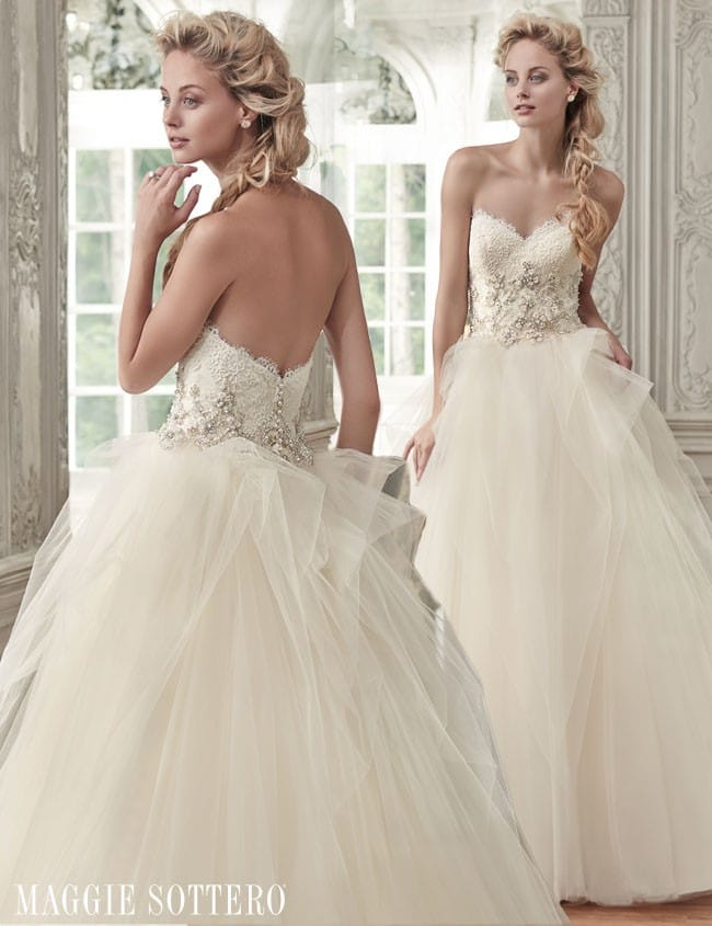 Fairy tale ballgown wedding dress by Maggie Sottero