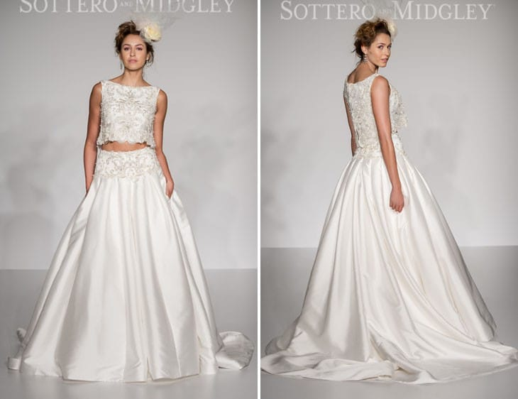 Dharma by Sottero and Midgley for New York Bridal Fashion Week. See more of our top 10 wedding dresses on Love, Maggie!