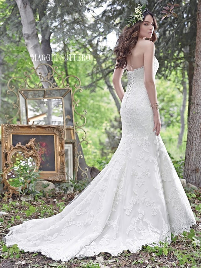 Understated classic elegance wedding dress by Maggie Sottero