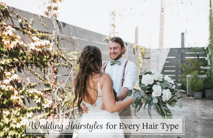 Bride Wearing Wedding Hairstyle for Every Hair Type